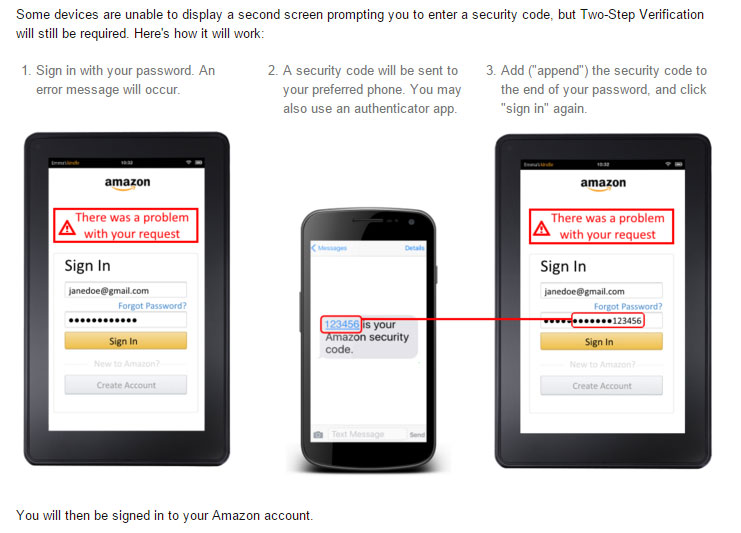 Caveat for Two-Factor Authentication on Amazon